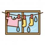 雨で洗濯物が濡れたら洗い直す?乾かない時やベランダ干ししたい時は?